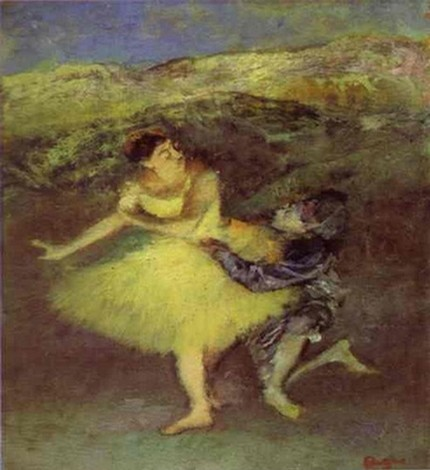 Harlequin and Colombine - Edgar Degas