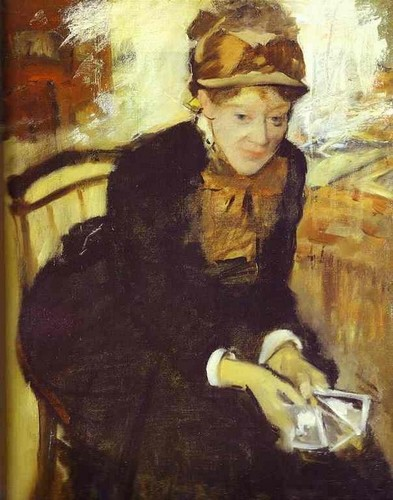 Portrait of Mary Cassat - Edgar Degas