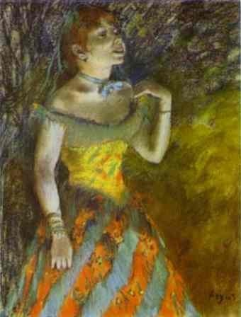 The Green Singer - Edgar Degas
